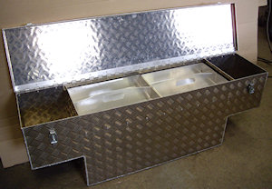 new Chequer Plate Cubby Box
