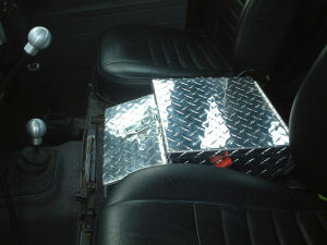 Chequer Plate Cubby Box